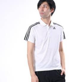 アディダス adidas メンズ 半袖機能ポロシャツ D2M トレーニング3ストライプポロシャツ BK2602