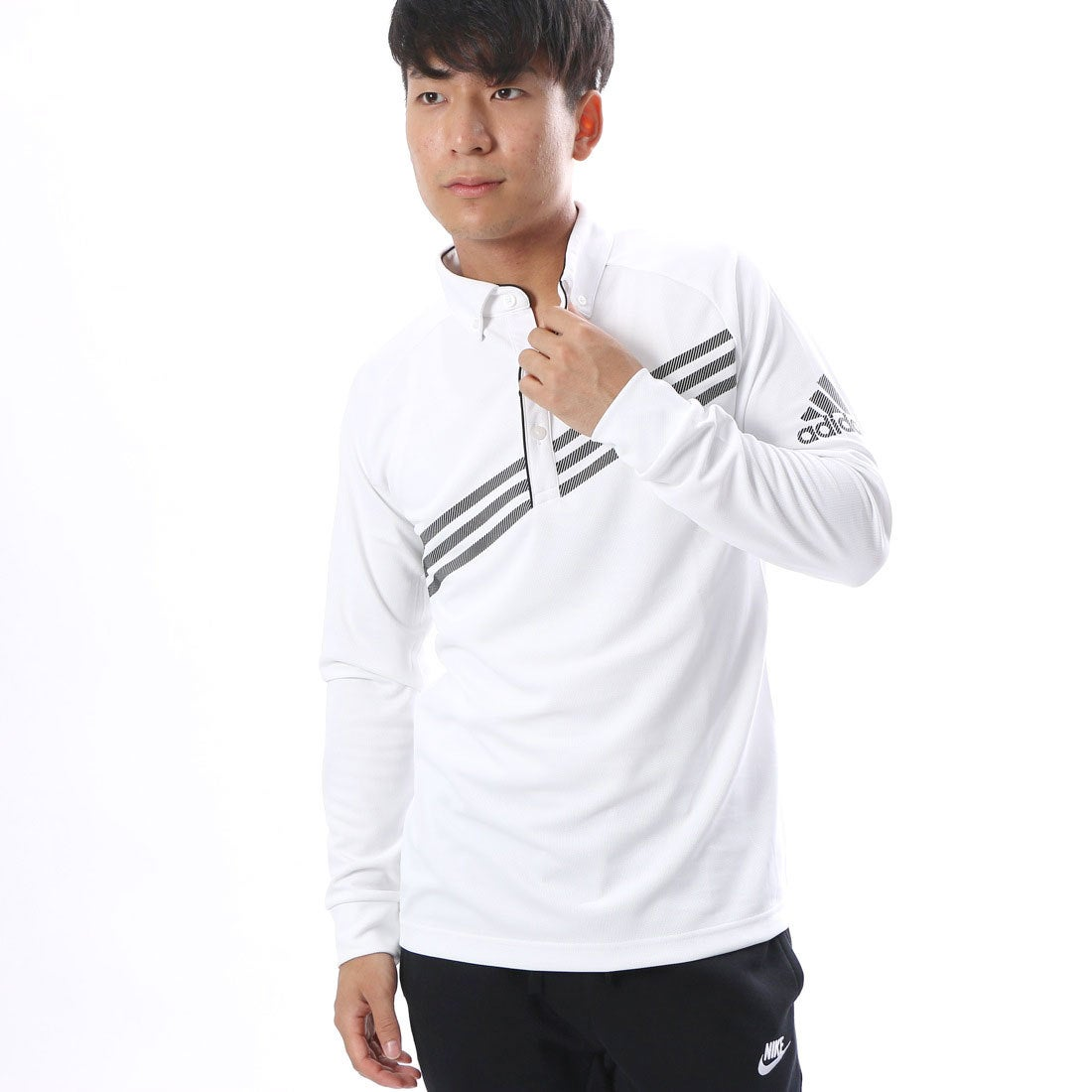 アディダス adidas メンズ ゴルフ 長袖ポロシャツ N68477 メンズ