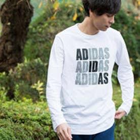 アディダス adidas メンズ 長袖Tシャツ HM ロゴグラフィックロングスリーブTシャツ M CF6062