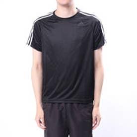 アディダス adidas メンズ 半袖機能Tシャツ D2Mトレーニング3ストライプスTシャツ BK0970