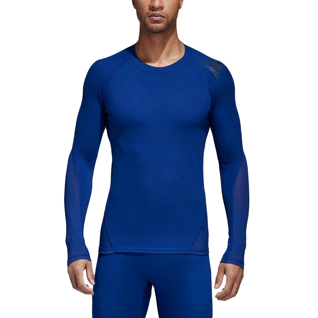 Fitness & Jogging Blue adidas AlphaSkin Sport Mens Long Sleeve Training Top Shirts