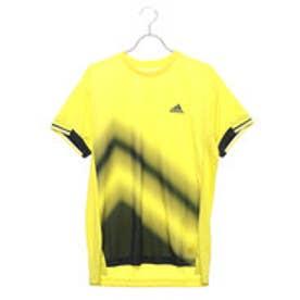 アディダス adidas メンズ テニス 半袖Tシャツ MENRULE#9コートグラフィックTシャツ CZ0549 (イエロー)
