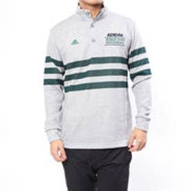 アディダス adidas メンズ ゴルフ 長袖シャツ JP adicross 3ストライプ L/S ボタンモックシャツ U31356