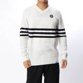 アディダス adidas メンズ ゴルフ 長袖セーター JP adicross 3ストライプ L/S Vネックセーター U31329