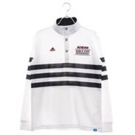 アディダス adidas メンズ ゴルフ 長袖シャツ JP adicross 3ストライプ L/S ボタンモックシャツ U31355