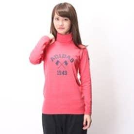 アディダス adidas ゴルフシャツ JP ADICROSS L/S タートルネック CCD66      ピンク (ピンク)