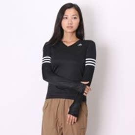 アディダス adidas レディースランニング長袖Tシャツ KAV85RSP 15F ブラック (ブラック)