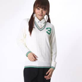アディダス adidas レディース ゴルフ 長袖セーター JP SP Vネック ケーブルセーター CCI71