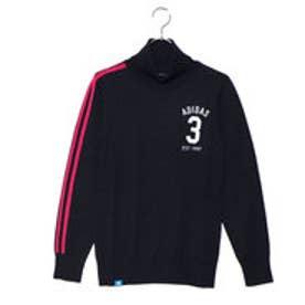 アディダス adidas レディース ゴルフ 長袖セーター JP adicross 3ストライプ タートルネックセーター U31482