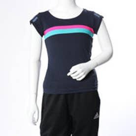 アディダス adidas レディース テニス 半袖Tシャツ GIRLST-SHIRTS DH2809 (ネイビー)