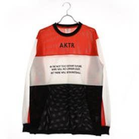アクター AKTR バスケットボール 長袖Tシャツ COMBINATION MESH SHIRTS 218-012005