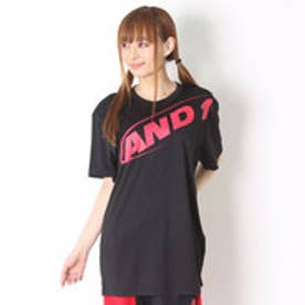 アンドワン AND1 バスケットボールTシャツ hook logo tee 6110908  (ブラック×レッド)