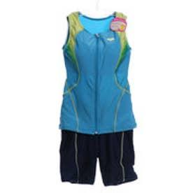 アリーナ ARENA レディース 水泳 フィットネス水着 大きめカラースナップ付きセパレーツ(ぴったりパッド) FLA-7723W【返品不可商品】