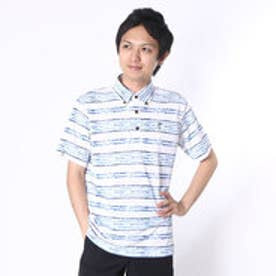 アシュワース ASHWORTH ゴルフシャツ S/S ストレッチ千鳥ボーダーシャツ BCK05 (トワイライトブルー)