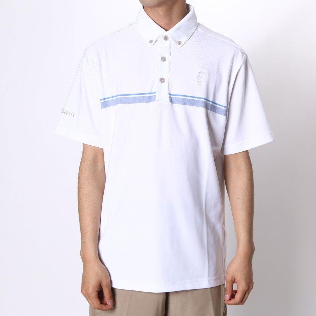 【SALE 46%OFF】【アウトレット】アシュワース ASHWORTH ゴルフシャツ S/S チェストラインドB.D.シャツ KGL94 (ホワイト) メンズ