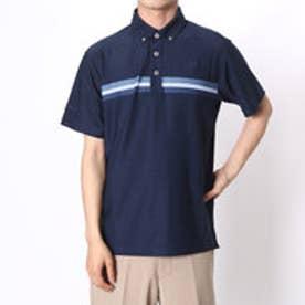 【アウトレット】アシュワース ASHWORTH ゴルフシャツ S/S チェストラインドB.D.シャツ KGL94 (ネイビー)