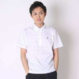 【アウトレット】アシュワース ASHWORTH ゴルフシャツ S/S 千鳥プリントB.D.シャツ BCK06 (ホワイト)