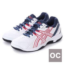 アシックス asics テニス オムニ クレー用シューズ ゲルベロシティ2OC TLL733 230 (ホワイト)