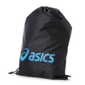 アシックス asics バスケットボールランドリーバッグ LIGHTSACK L EB049A  (ブラック×ターコイズブルー)