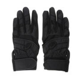 アシックス asics ユニセックス 野球 バッティング用手袋 BEG-60 (ブラック)