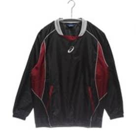 アシックス asics バスケットボールウォームアップジャケット プルオーバージャケット XBT122 ブラック (ブラックBUR)