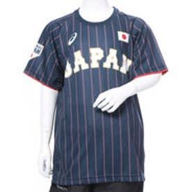 アシックス asics ジュニア 野球 レプリカウェア Jr.ユニフォームTシャツ(V).サムライネイビー BAT72J