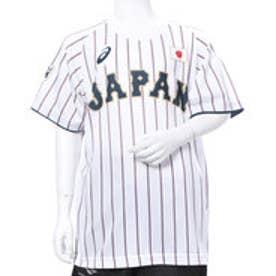 アシックス asics ジュニア 野球 レプリカウェア Jr.ユニフォームTシャツ(H).サムライホワイト BAT71J