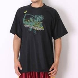 アシックス asics バスケットボールTシャツ プリントTシャツHS XB6561 ブラック (ブラックGR)