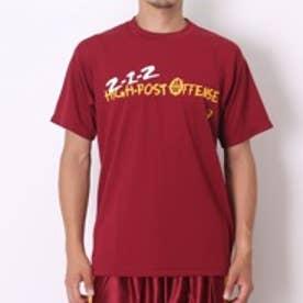 【アウトレット】アシックス asics バスケットボールTシャツ プリントTシャツHS XB972N エンジ (バーガンディ)