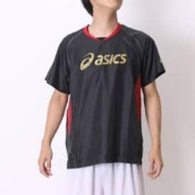 アシックス asics バレーボールウォームアップジャケット XWW613 HS ブラック (ブラックR)