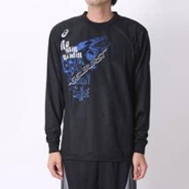 アシックス asics ユニセックスバスケットボールTシャツ プリントTシャツLS AS XB976N GB LS  (ブラック)