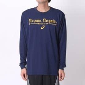 アシックス asics ユニセックスバスケットボールTシャツ プリントTシャツLS AS XB977N    LS  (ネイビー)