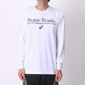 【アウトレット】アシックス asics ユニセックスバスケットボールTシャツ プリントTシャツLS AS XB977N    LS  (ホワイト)