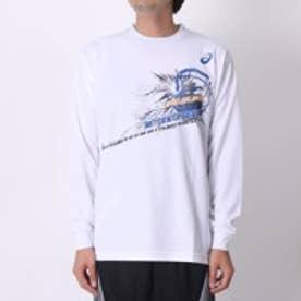 アシックス asics ユニセックスバスケットボールTシャツ プリントTシャツLS AS XB976N GB LS  (ホワイト)