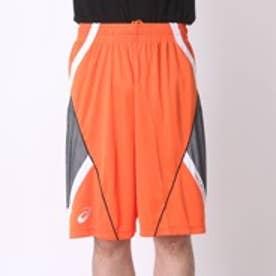 アシックス asics ユニセックスバスケットボールプラクティスパンツ プラパン AS XB761N  GB P  (オレンジxホワイト)