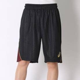 アシックス asics バスケットボールプラクティスパンツ プラパン XB7570      (ブラック×ストロングレッド)