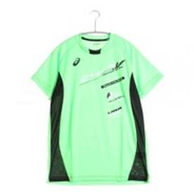 【アウトレット】アシックス asics バレーボールプラクティスシャツ プラシャツHS XW6622  (グリーンゲッコー×ブラック)