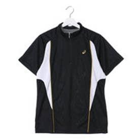アシックス asics ユニセックス 半袖機能ポロシャツ ハーフジツプシヤツ EZA923