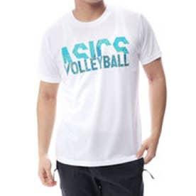 アシックス asics バレーボール 半袖 Tシャツ プリントショートスリーブトップ XW6742