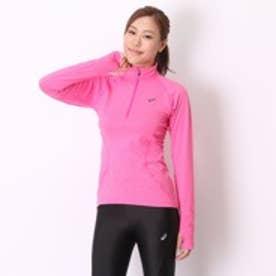 アシックス asics レディースランニング長袖Tシャツ 127969 15F ピンク (ピンク)
