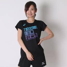アシックス asics レディースランニング半袖Tシャツ W'SプリントTシヤツHS XT590N