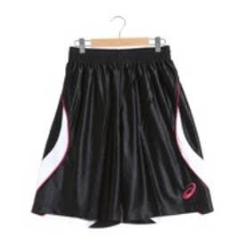 アシックス asics バスケットボールプラクティスパンツ W'Sプラパン XB7575      (ブラック×ホワイト)