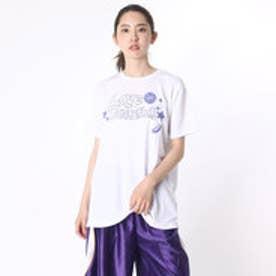 アシックス asics バスケットボールTシャツ W'SプリントTシヤツHS XB987N (ホワイト)
