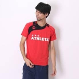 アスレタ ATHLETA サッカープラクティスシャツ AP-0125 レッド×ブラック