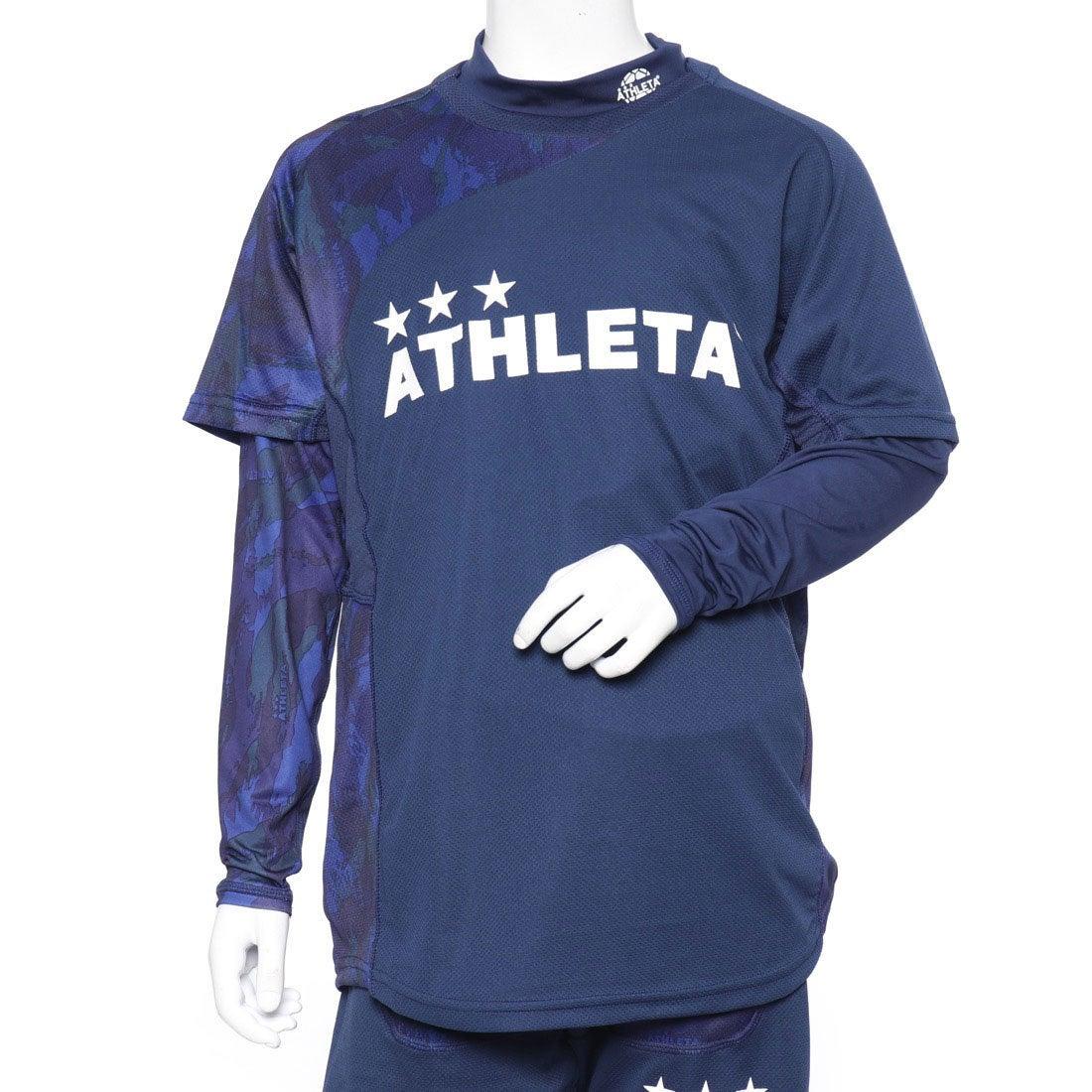 ロコンド 靴とファッションの通販サイトアスレタATHLETAジュニアサッカー/フットサルレイヤードシャツプラシャツインナーセット02299J
