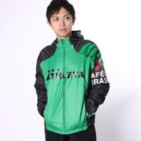 アスレタ ATHLETA メンズ サッカー/フットサル ピステシャツ 裏地付きウインドパーカー 02275 (グリーン)