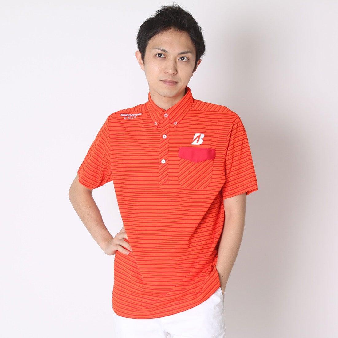 【SALE 69%OFF】【アウトレット】ブリヂストン ゴルフ BRIDGESTONE GOLF ゴルフシャツ 16SS BGメンズハンシャツ DGM19A (オレンジ) メンズ