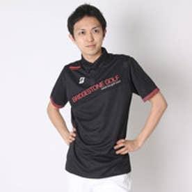 【アウトレット】ブリヂストン ゴルフ BRIDGESTONE GOLF ゴルフシャツ 16SS BGメンズハンシャツ DGM14A (ブラック)