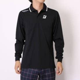 【アウトレット】ブリヂストン BRIDGESTONE ゴルフシャツ メンズ長袖シャツ AGM15F ブラック (ブラック)