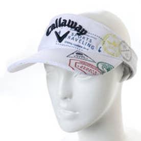 キャロウェイ Callaway メンズ ゴルフ サンバイザー スタンププリントカノコメッシュバイザー 2418184503